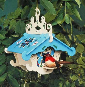 Corona Concepts The Lodge Birdhouse -- Wooden Bird House Kit -- #6901