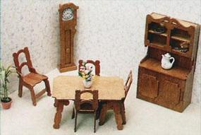 Corona Dining Room Furniture Wooden Doll House Kit #7202
