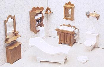 Corona Concepts Bathroom Furniture -- Wooden Doll House Kit -- #7204