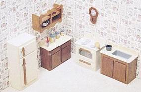 Corona Kitchen Furniture Wooden Doll House Kit #7205