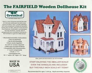 Corona Concepts Greenleaf The Fairfield -- Wooden Doll House Kit -- #8015