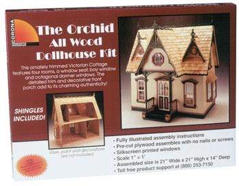Corona Concepts Greenleaf The Orchid -- Wooden Doll House Kit -- #9301