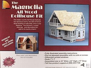 Corona Concepts Greenleaf The Magnolia -- Wooden Doll House Kit -- #9303