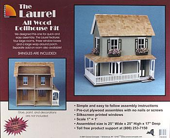 Corona Concepts Greenleaf The Laurel -- Wooden Doll House Kit -- #9309