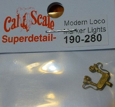 Cal Scale Modern Loco & Tender Marker Lights (pr) -- HO Scale Miscellaneous Train Part -- #280