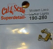 Cal Modern Loco & Tender Marker Lights (pr) HO Scale Miscellaneous Train Part #280
