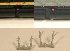 Cal Locomotive Fuel Fillers 2 Short/2 Tall (Plastic) HO Scale Miscellaneous Train Part #622