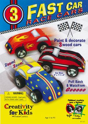 Creativity for Kids Fast Car Race Cars Pull Back Kit -- Activity Craft Kit -- #1165000