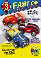 Creativity-for-Kids Fast Car Race Cars Pull Back Kit Activity Craft Kit #1165000