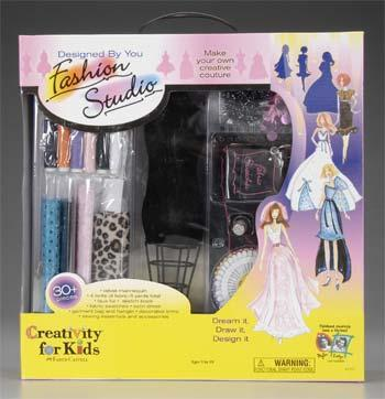 Creativity for Kids Fashion Design Studio -- Fabric Craft and Activity -- #1252000