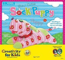 Creativity-for-Kids Sew Cute Sock Puppy Fabric Craft and Activity #1673000