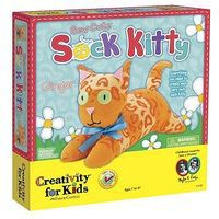 Creativity-for-Kids Sew Cute Sock Kitty Fabric Craft and Activity #1680000