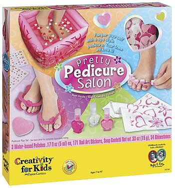 Creativity for Kids Pretty Pedicure Salon -- Hobby Bath and Beauty -- #1733000