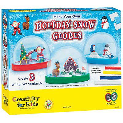 Creativity for Kids Make Your Own Holiday Snow Globes -- Activity Craft Kit -- #1846000