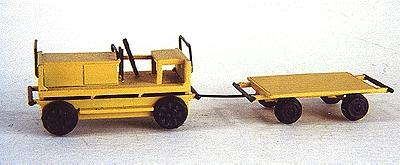 Custom-Finish Hvy duty gang car w/trlr - HO-Scale