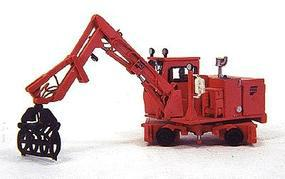 Custom-Finish Pike tie crane w/grapple - HO-Scale