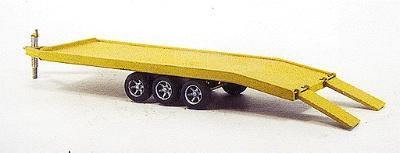 Custom Finishing 18T equip trlr stl decked - HO-Scale