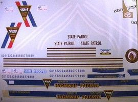 Chimney ND, SD, and Idaho State Trooper Police Decals Plastic Model Car Decal 1/24 Scale #3012