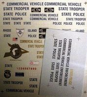 Chimney New Hampshire, ME, & RI State Trooper Police Decals Plastic Model Car Decal 1/24 #3016