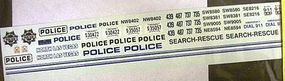 Chimney Las Vegas and North Las Vegas Police Decals Plastic Model Car Decal 1/24 Scale #3039