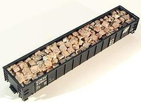 Baled Scrap Load Random For Gondolas HO Scale Model Train Freight Car Load #7223