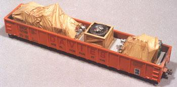Chooch Enterprises Heavy Equipment Load For Gondolas -- HO Scale Model Train Freight Car Load -- #7232