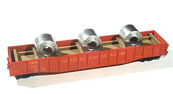 Chooch Enterprises Coil Steel Load For Gondolas -- HO Scale Model Train Freight Car Load -- #7235