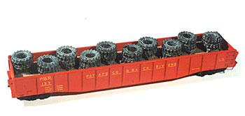 Chooch Enterprises Heavy Equipment Tire Load -- HO Scale Model Train Freight Car Load -- #7236