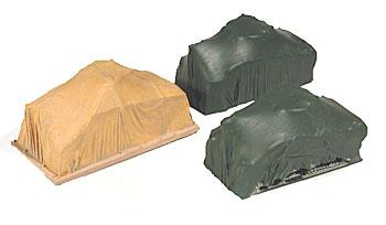 Chooch Enterprises Covered Army Tanks Load -- pkg(3) - HO-Scale