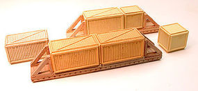 Chooch Wood Sheathed Crates For N & HO Model Train Freight Car Loads #7265