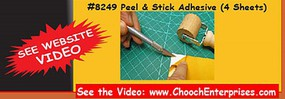 Chooch 3.75 X 12 Peel & Stick Adhesive Transfer Tape (4 Sheets)