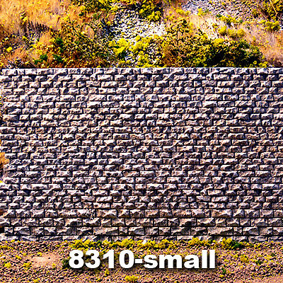 Chooch Cut Stone Retaining Wall - Small N Scale Model Railroad Scenery Structure #8310