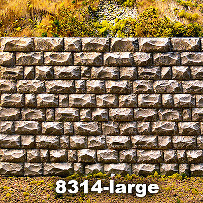 Chooch Enterprises Cut Stone Retaining Wall Large -- O Scale Model Railroad Miscellaneous Scenery -- #8314