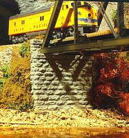 Chooch Single Track Cut Stone Bridge Abutment HO Scale Model Railroad Scenery #8440