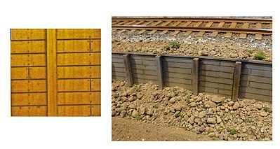 Chooch Timber Retaining Wall, .135 Planks