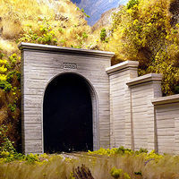 Chooch Concrete Single Tunnel Portal (2 pack) N Scale Model Railroad Scenery #9720