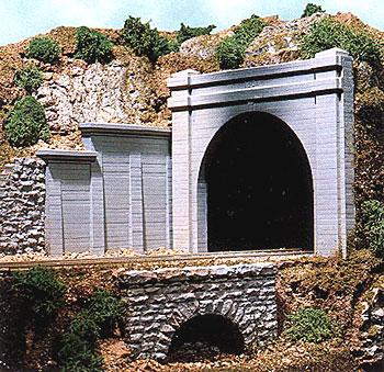 Chooch Concrete Tunnel Portal Double Track N Scale Model Railroad Scenery #9730