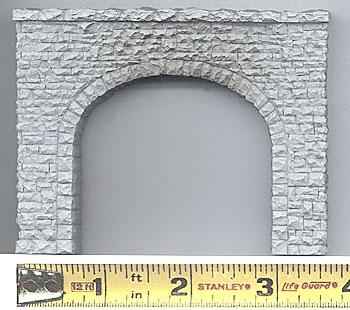Chooch Enterprises Tunnel Portal -- Double Random Stone 3.5 x 2.75'' pkg(2) - N-Scale