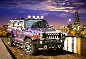Castor Hummer H3 Purple, City Night Scene (1000pc)
