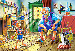 Castor Pinocchio & Geppetto Home Scene (120pc)