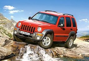 Castor Jeep Cherokee SUV Red on Mountain (500pc)