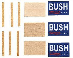 Calumet Lawn Sign G.H.W. Bush 3/ HO-Scale (3)