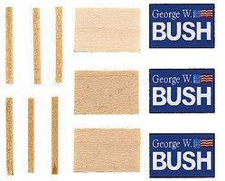 Calumet Lawn Sign G.W. Bush 3/ HO-Scale (3)