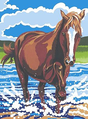 Colart Pony Acrylic Paint by Number 9''x12'' -- Paint By Number Kit -- #12050