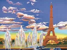 Colart Eiffel Tower, Paris Acrylic Paint by Number 11.5x15.5 Paint By Number Kit #12188