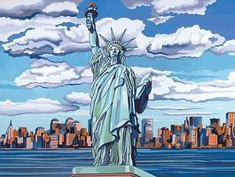 Colart Statue of Liberty, USA Acrylic Paint by Number 11.5x15.5 Paint By Number Kit #12190