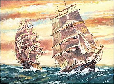 Colart Sailing Ships Acrylic Paint by Number 11.5''x15.5'' -- Paint By Number Kit -- #13053