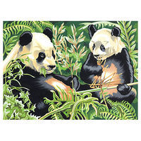 Colart Pandas Acrylic Paint by Number 11.5x15.5 Paint By Number Kit #13161