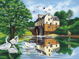 Colart Watermill Acrylic Paint by Number 11.5x15.5 Paint By Number Kit #15212