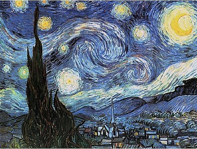 Colart Starry Night by Van Gogh Acrylic Paint by Number 12''x16''
